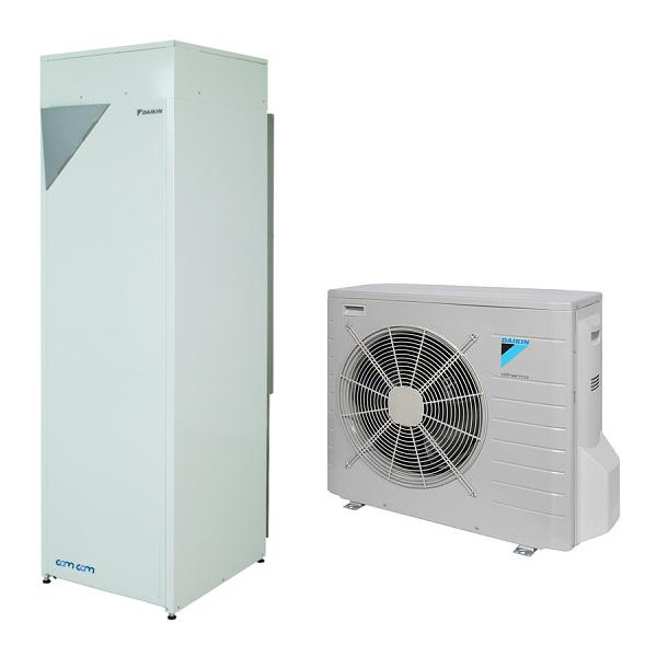 Daikin EHVH08SU18CB6W/ERLQ008CV3 – напольная встроенная низкотемпературная сплит-система Daikin Altherma на базе теплового насоса воздух-вода