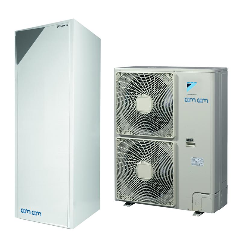 Daikin EHVZ16S18CB3V/ERHQ014BW1 – низкотемпературная сплит-система для снабжения горячей водой и отопления