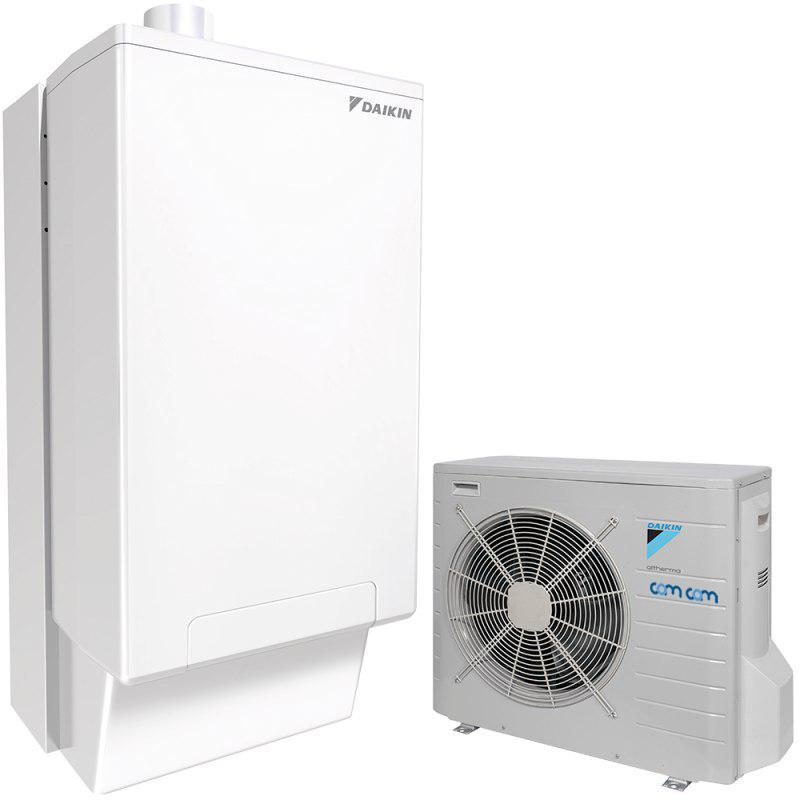 Daikin EHYHBH08AV32/EHYKOMB33AA3/EVLQ08CV3  – гибридный тепловой насос для отопления и ГВС